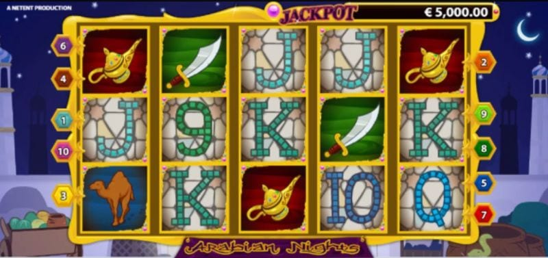Arabian Nights Free Spins (Netent)