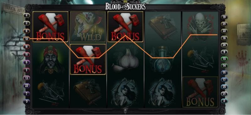 Blood Suckers Bonus game (Netent)