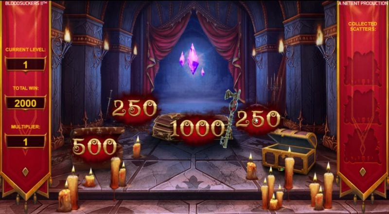 Blood Suckers II Bonus feature (Netent slot machine)