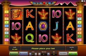Book of Ra Novomatic slot machine
