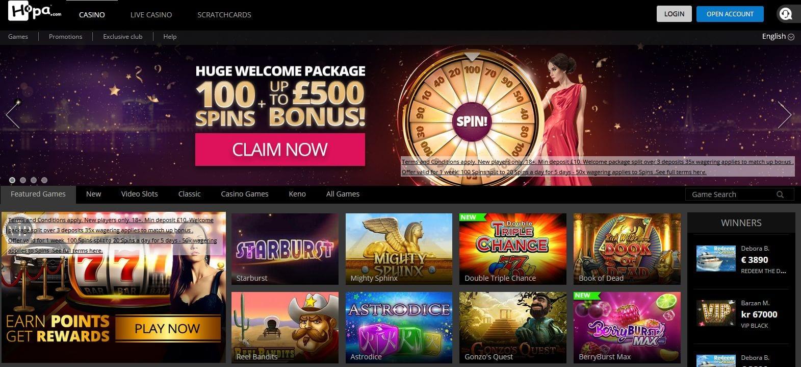 Hopa Online Casino Erfahrungen