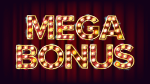 An image of the mega bonus banner