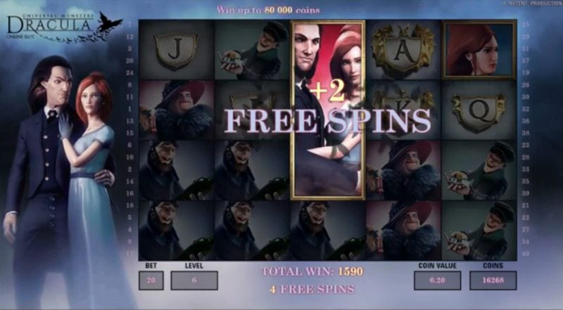 Dracula Netent : +2 Free Spins