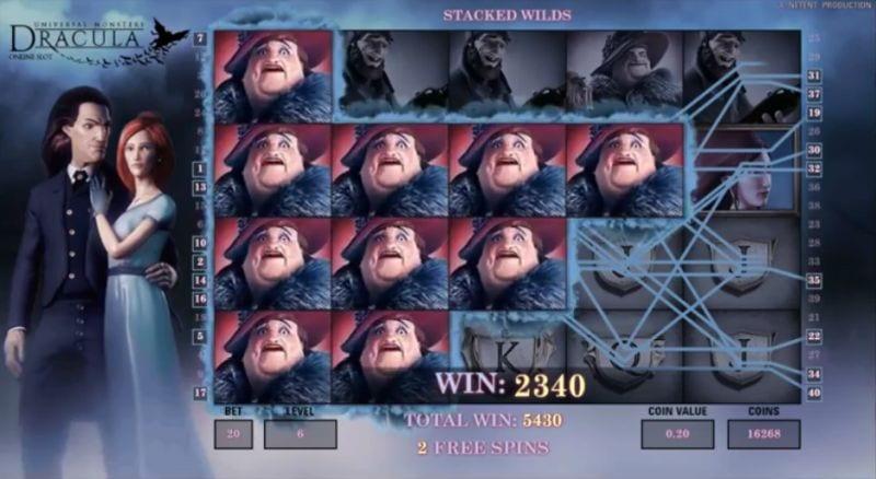 Dracula online slot : big win