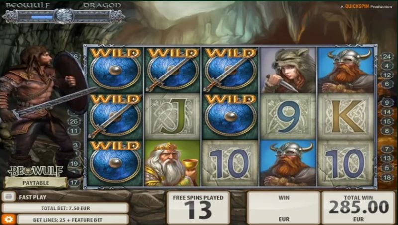 Beowulf Quickspin slot machine