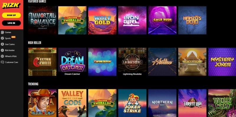 Rizk slots : an amazing casino games portfolio