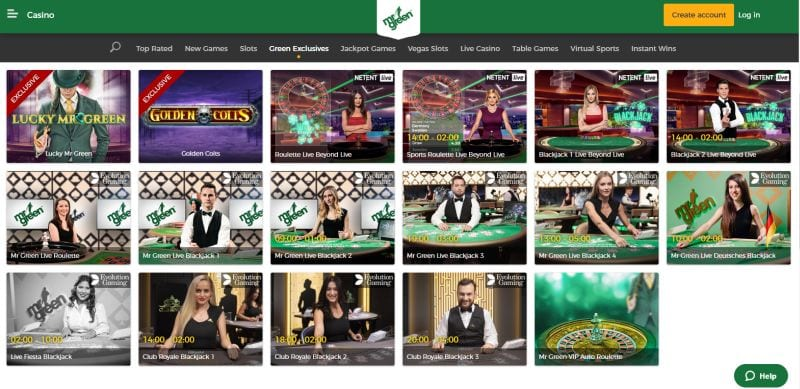 Mr Green casino : exclusive slots and casino games