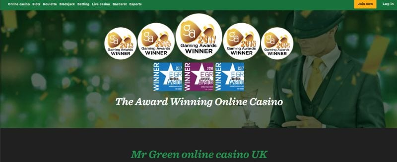Mr Green online casino : rewards and awards