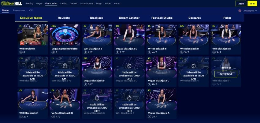 William Hill Casino and live casino