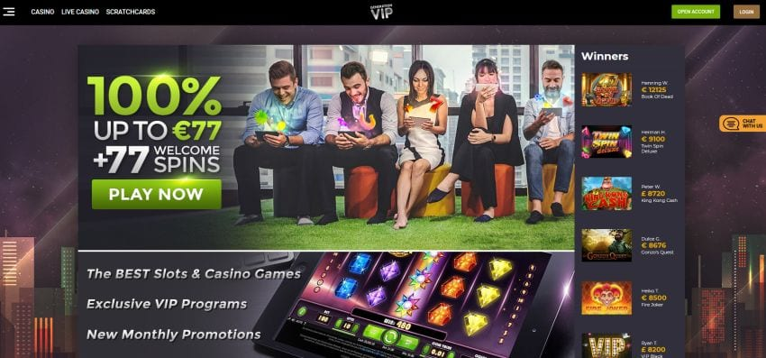 Generation VIP online casino