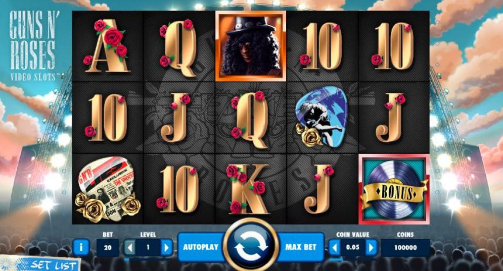 Guns n' Roses Netent slot machine