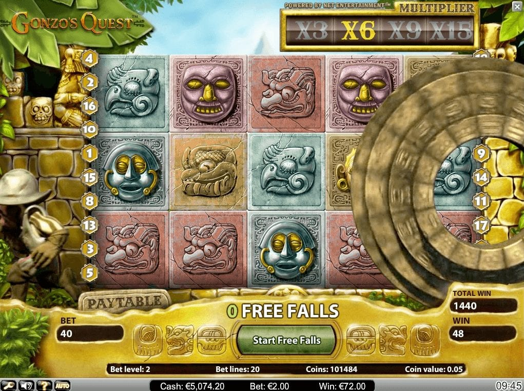 Gonzo's Quest, a slot from Netent